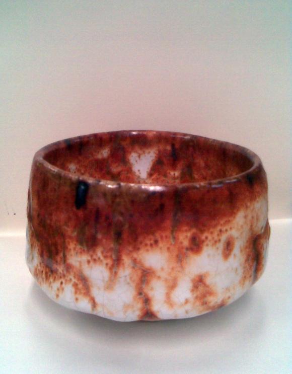 Tony Nankervis, Woodfired ceramic bowl with Shino style glaze