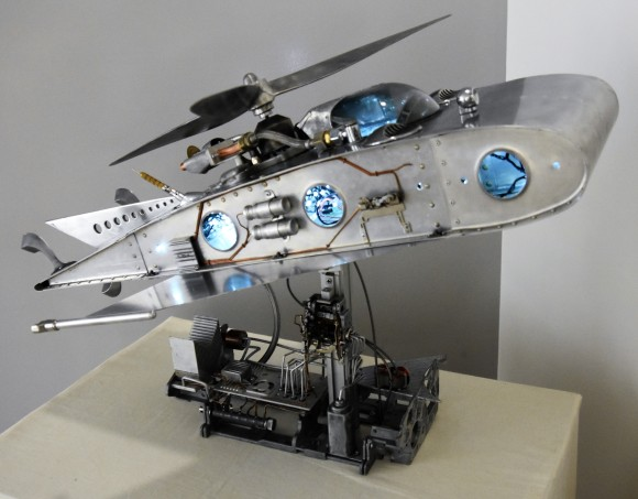 CHARLIE HURCOMB 'THE SPACE CAR' Repurposed aircraft wing section and other items (2)