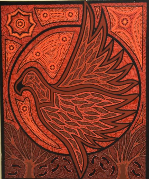 PAMELA BUGMY 'PILLYARA' (EAGLE HAWK) Acrylic on canvas (2)